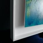 Lanai Alanna Eakin Palm Tree Oil Painting Turquoise Blue Framed Art side 3-6c7493c7