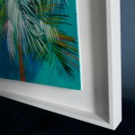 Lanai Alanna Eakin Palm Tree Oil Painting Turquoise Blue Framed Art side-7901cacb