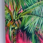 Perissa Alanna Eakin Palm Tree oil painting pink framed detail 2-7fb1ea65