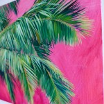 Perissa Alanna Eakin Palm Tree oil painting pink framed detail 4-ec774057