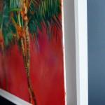 Positano Alanna Eakin Palm Tree Sunset Oil Painting Framed side detail 2-0bd20595