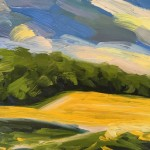 Suzanne Winn Across the Rapefield I Wychwood Art Original Landscape Painting-5fc3ad0d