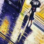 Tube Rain 1 detail 1 Oil 2015 76 x 51 cm (30 x 20 inch) Wychwood Art-060386d5