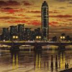 Vauxhall Bridge Oil 2014 51 x 76 cm (20 x 30 inch) Wychwood Art-b3e526ca