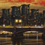 Vauxhall Bridge detail 2 Oil 2014 51 x 76 cm (20 x 30 inch) Wychwood Art-6a5c1f5d