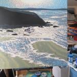 beach sunshine sparkles. gordon hunt. wychwood art. on the easel-563535b4