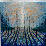 deep blue forest  on white-f054b4ac
