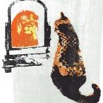 think_big_III_ginger_cat_lion_mirror_positive_message_screenprint_katie_edwards_illustration_art-ae59172a