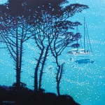 A sailing break. gordon hunt. 1 front view. acrylic painting-bd217afc