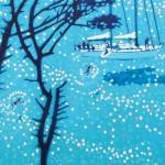 A sailing break. gordon hunt. close up. acrylic painting-d7b5ea0d