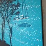 A sailing break. gordon hunt. side view. acrylic painting-b0a785f6