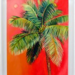 Alanna Eakin Isola Bella Palm Tree Oil Painting In Frame-5b95a509