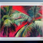 Alanna Eakin Pipa Palm Tree Oil Painting Bright Colours In situ 3-1040278a