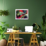 Alanna Eakin Pipa Palm Tree Oil Painting Bright Colours in situ 2-75e4a20c