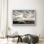 Dreaming of the Mountains II.In Situ white frame.Helen Howells-f1a33119