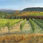 Jane Peart Evening Sun Tuscany Wychwood Art-46a660fd