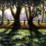 Marie Robinson Sunlit Snowdrops, Swyncombe Wychwood Art detail 1 -437a1df7