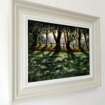 Marie Robinson Sunlit Snowdrops, Swyncombe Wychwood Art side view -10fdb424
