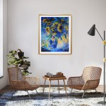 Mary Chaplin sunner flowers in blue, tribute to Vincent Van Gogh in situ 4 Wychwood Art-9f698a40