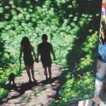 Shady lane. Gordon Hunt. Wychwood Arts. on the easel-a649b539
