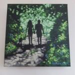 Shady lane. Gordon Hunt. Wychwood Arts. on the wall-16301225