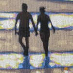 To walk on a beach in the sunshine. Gordon Hunt. Wychwood Arts. image close up-aa028231