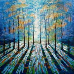 Amanda Horvath Woodland Daydream Landscape Painting, Impressionist Art, Affordable Contemporary Painting-300c38a5
