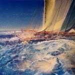 Gerard Tunney.Into the sun.wychwood art.j.pegacrylic on canvas.24ins.x16ins.Gerard Tunney.£650.2021-40fe758a