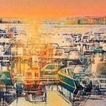 Gerard Tunney.Marina sunrise. wychwood art j.peg.24 ins. x 16ins. acrylic on canvas. Gerard Tunney.£650.2021 – Copy-c76aa510