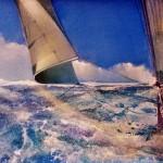 Gerard Tunney.The loose sail.wychwood art.j.pegacrylic on canvas.24ins.x16ins.Gerard Tunney.£650.2021-8725e104