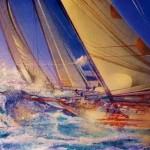Gerard TunneyNeptune.wychwood art j.peg.acrylic on canvas.24ins.x16ins.Gerard Tunney.£650.2021-467614e4