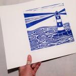 Jess Harrington Cornish Lighthouse Side Wychwood Art-e68d4cc6