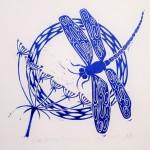 Jess Harrington Dragonfly & Hogweed Close Wychwood Art-b64c31a4