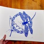 Jess Harrington Dragonfly & Hogweed Side Wychwood Art-b5595091