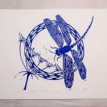 Jess Harrington Dragonfly & Hogweed White Wychwood Art-8adbe063