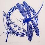 Jess Harrington Dragonfly & Hogweed Wychwood Art-3fb4b28b