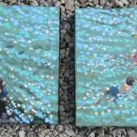 summer swim. gordon hunt. wychwood art. 3 both together-5abb73c3