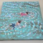 summer swim. gordon hunt. wychwood art. 4 on wall-e65f303a