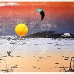 sunset_kitesurfing_1_bantham_beach_devon_screenprint_katie_edwards_illustration_art-20343fcc