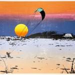 sunset_kitesurfing_2_bantham_beach_devon_screenprint_katie_edwards_illustration_art-cbd8fabc