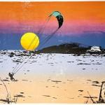 sunset_kitesurfing_3_bantham_beach_devon_screenprint_katie_edwards_illustration_art-0daa3470