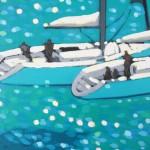 turquoise cove rendezvous. gordon hunt. wychwood art. 3. close up1-5f50e3ce