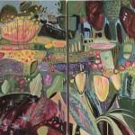 Elaine Kazimierczuk A Wilder Garden diptych Wychwood Art-0d9284a0