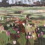 Elaine Kazimierczuk Snake's Head Fritillaries on Iffley Meadows Wychwood Art-66092808