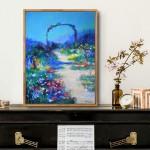 Mary Chaplin full sun in Claude Monet's garden in situ 1 Wychwood Art-5aba432f
