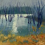 1. Winter Reflections 30×30 cm oil on canvas -08b63889