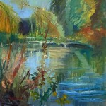 10. The pond turning to autumn 60×60 cm oil on canvas-8a35f44f