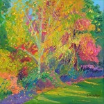 4. Wisley Spring 40×40 cm oil on canvas  -a0fc5ba8