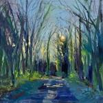 7. A pathway Winter Evening 40×40 cm oil on canvas -8de67b8a