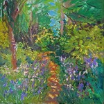 8. A blue bell path 50×50 cm oil on canvas (2)-55309506